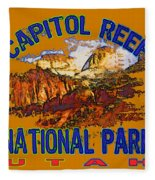 Capitol Reef National Park Utah Fleece Blanket