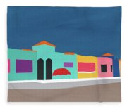 Capitola Venetian- Art By Linda Woods Fleece Blanket