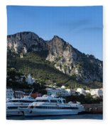 Capri Island Harbor  Fleece Blanket