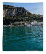 Capri Island Silky Smooth Emerald And Aquamarine Fleece Blanket