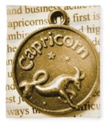 Capricorn Zodiac Lucky Charm Fleece Blanket
