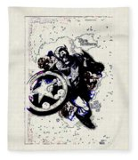 Captain America Fleece Blanket