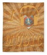 Captain America Lullaby Original Digital Fleece Blanket