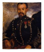 Captain Edouard Bernier 1871 Fleece Blanket