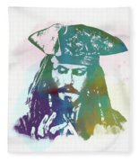 Captain Jack Sparrow Fleece Blanket