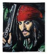 Captain Jack Sparrow Fleece Blanket