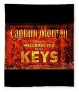 Captain Morgan Welcome Florida Keys Fleece Blanket