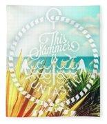 Captiva Island I Fleece Blanket