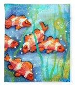 Captivating Clown Fish Fleece Blanket