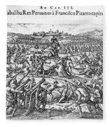 Capture Of Atahualpa, 1532 Fleece Blanket
