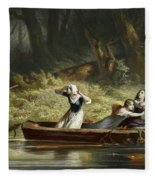 Capture Of The Daughters Of Daniel Boone And Richard Callaway By The Indians Fleece Blanket