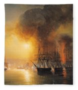 Capture Of The Fort Of Saint Jean Dulloa On 23rd November 1838 Fleece Blanket