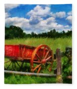 Car - Wagon - The Old Wagon Cart Fleece Blanket