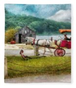 Car - Wagon - Traveling In Style Fleece Blanket