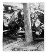 Car Accident, C1919 Fleece Blanket