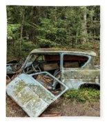 Car Graveyard In Smaland Fleece Blanket