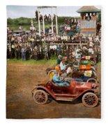 Car - Race - On The Edge Of Their Seats 1915 Fleece Blanket