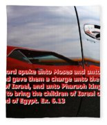 Car Reflection With Text 4 Fleece Blanket