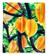 Carambolas Starfruits Fleece Blanket