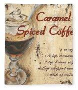 Caramel Spiced Coffee Fleece Blanket