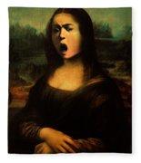 Caravaggio's Mona Fleece Blanket