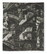 Carceri Series, Plate Xiv Fleece Blanket