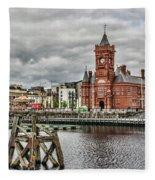 Cardiff Bay Skyline Fleece Blanket