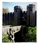 Cardiff Castle Gate Fleece Blanket
