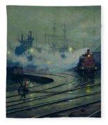 Cardiff Docks Fleece Blanket