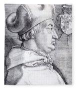 Cardinal Albrecht Of Brandenburg 1523 Fleece Blanket
