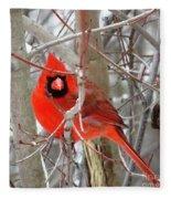 Cardinal Red Fleece Blanket