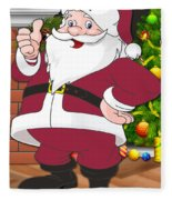 Cardinals Santa Claus Fleece Blanket