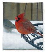 Cardinals Snow Day Fleece Blanket