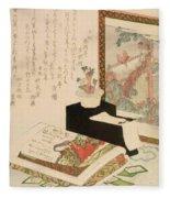 Cards Fukujuso Flowers And Screen Fleece Blanket