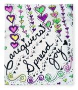 Caregivers Spread Joy Fleece Blanket