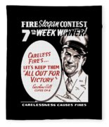 Carelessness Causes Fires Fleece Blanket