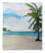 Caribbean Beach Fleece Blanket