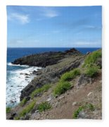 Caribbean Coastal Path Fleece Blanket