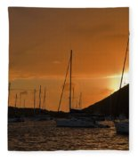Caribbean Dawn Fleece Blanket
