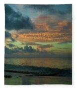 Caribbean Early Sunrise 2 Fleece Blanket