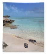 Caribbean Flippin Flops Fleece Blanket