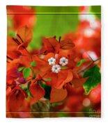Caribbean Floral Surprise Fleece Blanket
