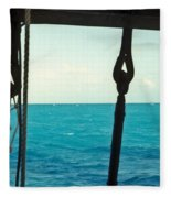 Caribbean From A Square Rigger Fleece Blanket