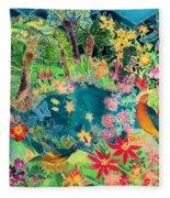 Caribbean Jungle Fleece Blanket