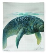 Caribbean Manatee Fleece Blanket