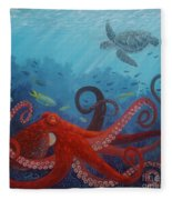 Caribbean Reef Octopus Fleece Blanket