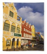 Caribbean Shopping District Fleece Blanket