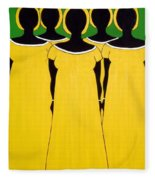Caribbean Yellow Fleece Blanket
