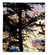 Cariboo District Sunset Fleece Blanket