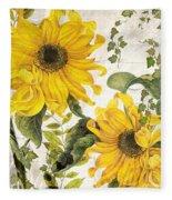Carina Sunflowers Fleece Blanket